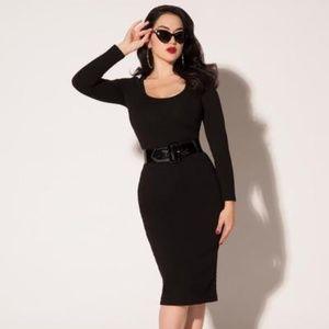 Pinup Girl Clothing Hannah Dress in Black